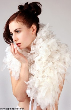 nikki goldup silk boa